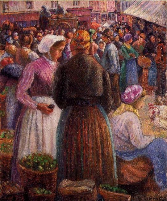 market at pontoise 1895