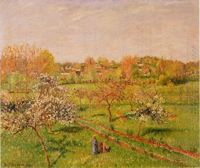 morning flowering apple trees eragny 1898