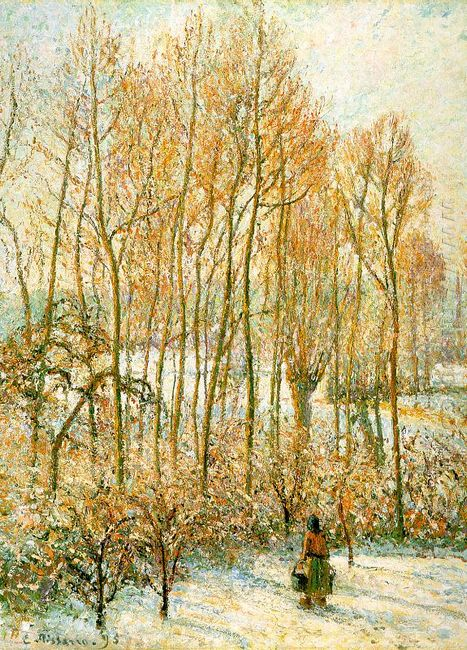 morning sunlighton the snow eragny sur epte 1895