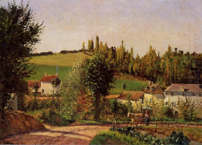 path of hermitage at pontoise 1872