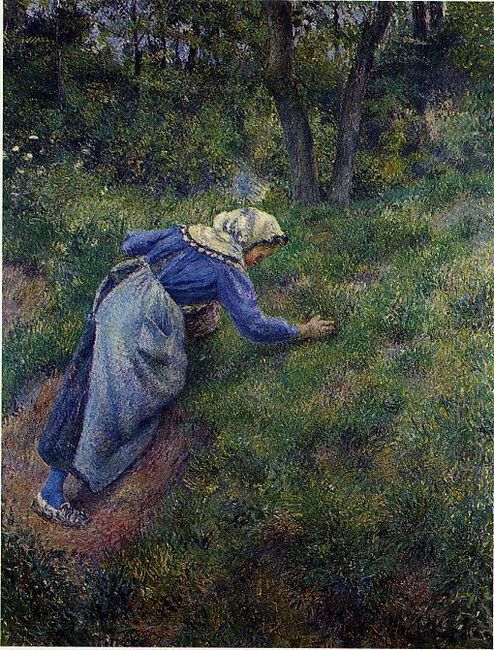 peasant gathering grass 1881