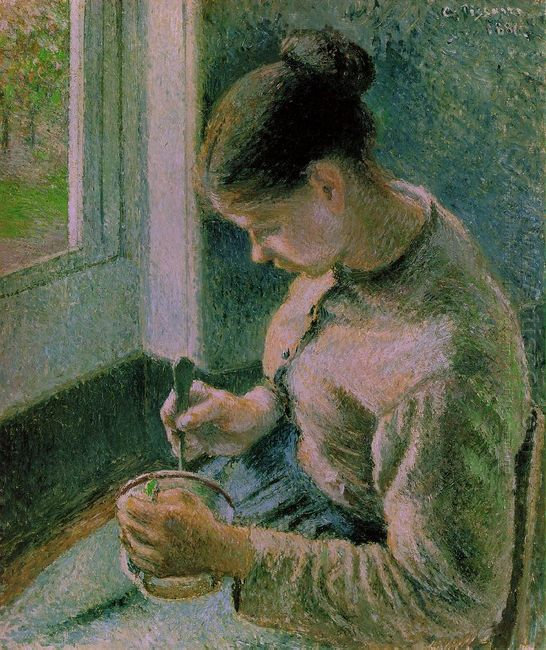 peasant girl drinking her coffee 1881