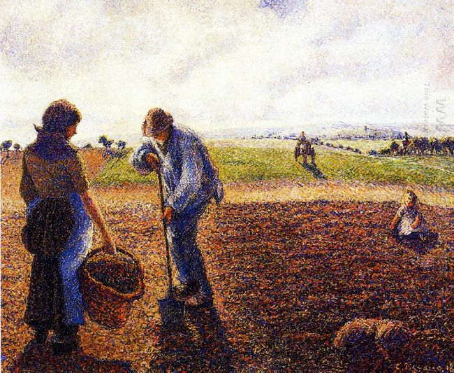 peasants in the field eragny 1890