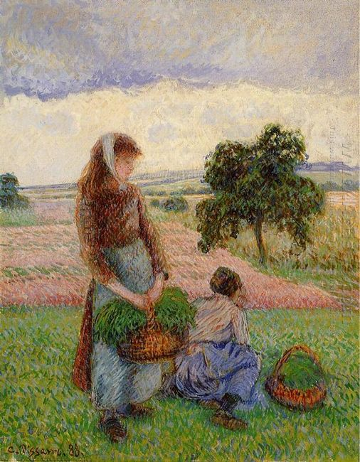peasant woman carrying a basket 1888