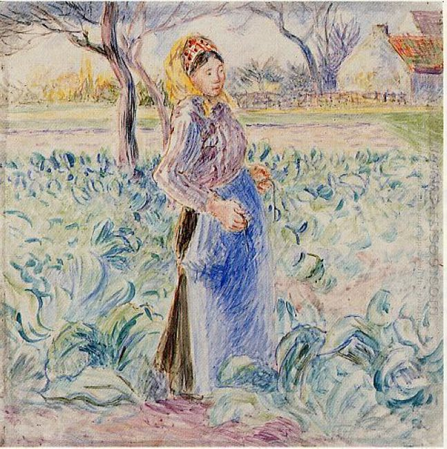 peasant woman in a cabbage patch