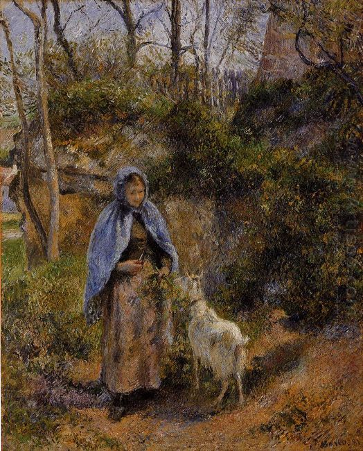 peasant woman with a goat 1881