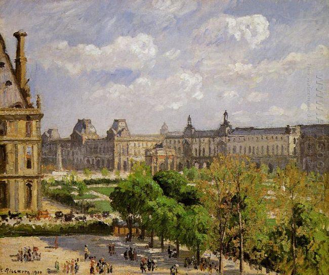 place du carrousel the tuileries gardens 1900