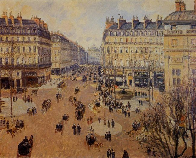 place du theatre francais afternoon sun in winter 1898
