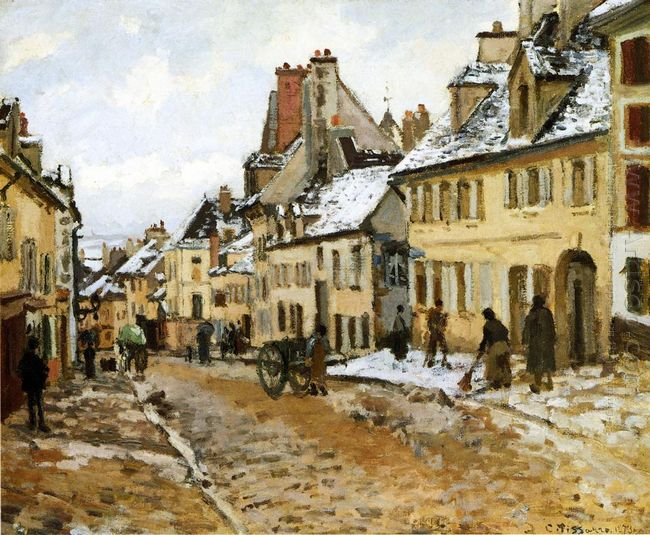 pontoise the road to gisors in winter 1873