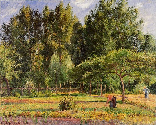 poplars afternoon in eragny 1899