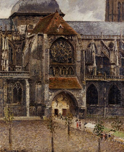 portal from the abbey church of saint laurent 1901