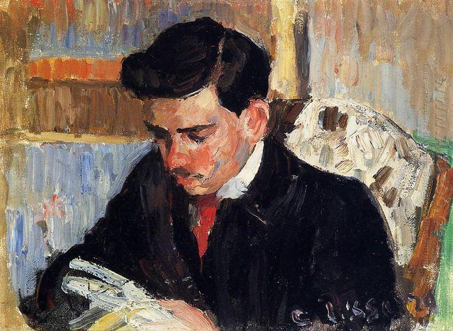 portrait of rodo pissarro reading