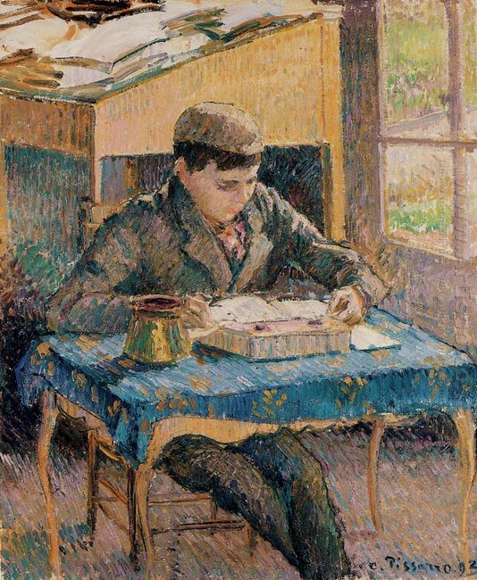 portrait of rodo reading 1893