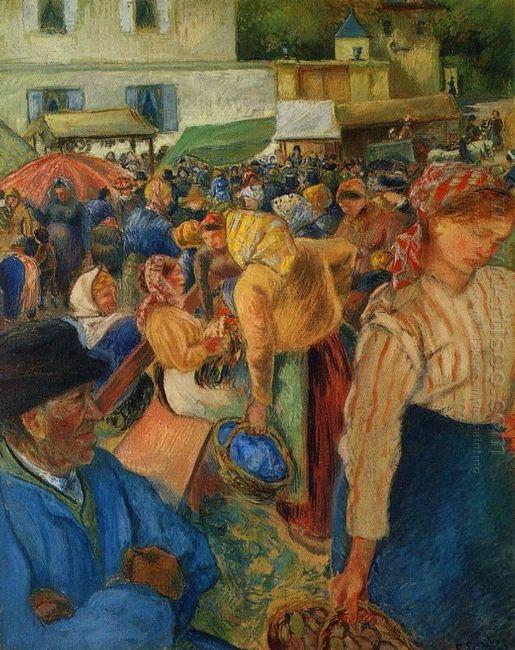 poultry market pontoise 1892