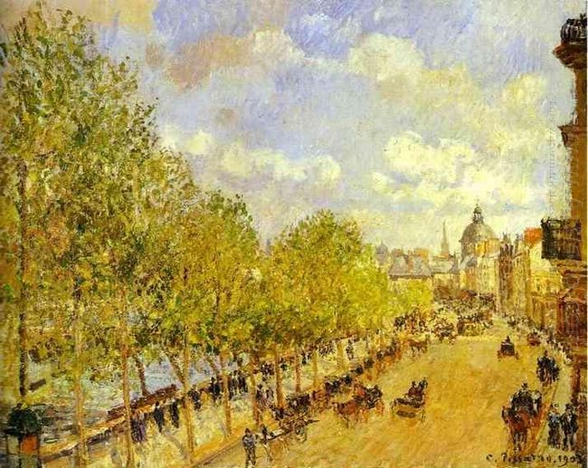 quai malaquais in the afternoon sunshine 1903
