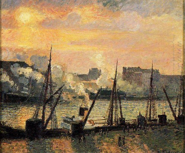 quay in rouen sunset 1896