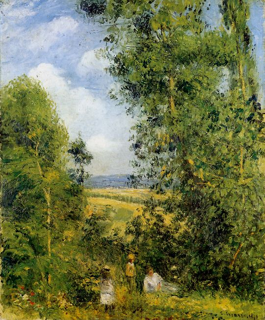 resting in the woods pontoise 1878