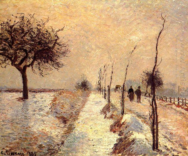 road at eragny winter 1885