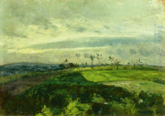 rolling landscape in winter 1875