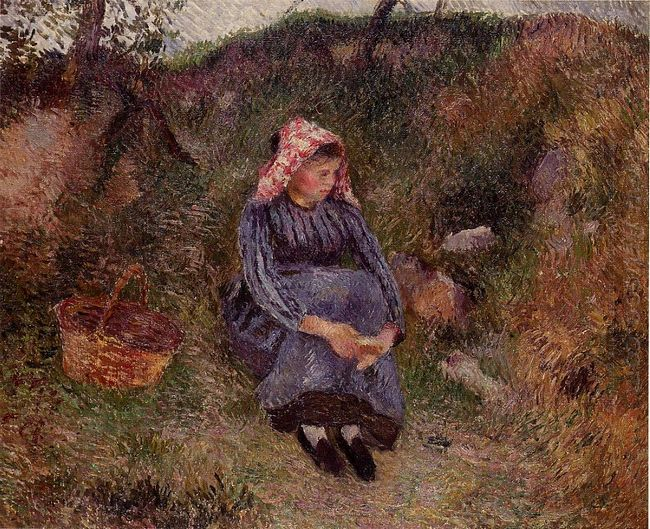 seated peasant girl 1883