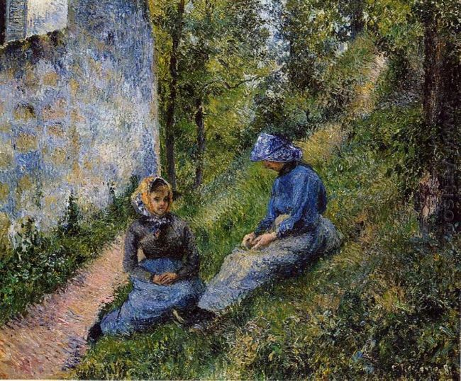 seated peasants sewing 1881