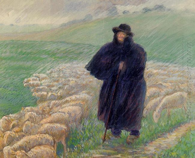 shepherd in a downpour 1889