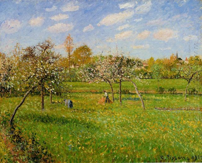 spring morning cloudy eragny 1900