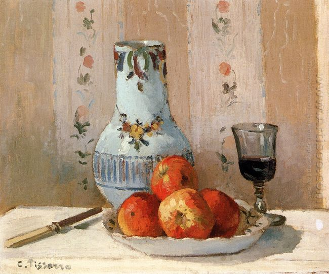 still life with apples and pitcher 1872