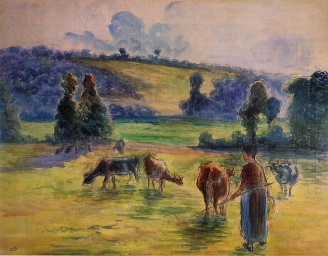 study for cowherd at eragny 1884