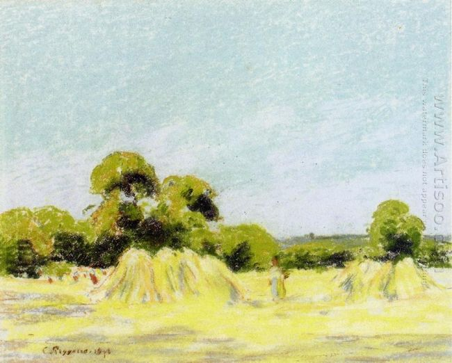 study for the harvest at montfoucault 1879