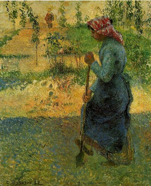 study of a peasant in open air also known as peasant digging 188