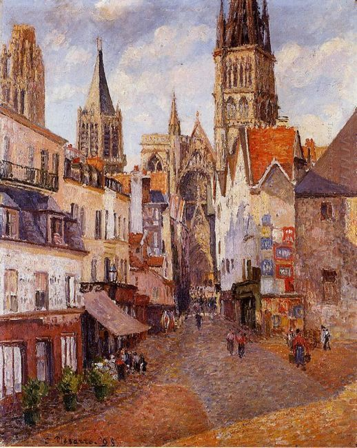 sunlight afternoon la rue de l epicerie rouen 1898