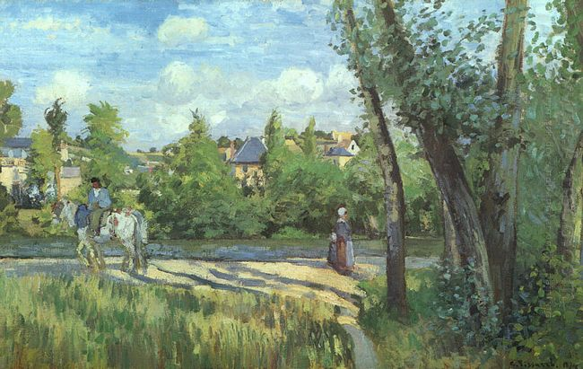 sunlight on the road pontoise 1874
