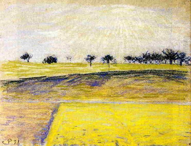sunrise over the fields eragny 1891
