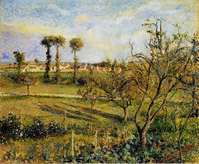 sunset at valhermeil near pontoise 1880