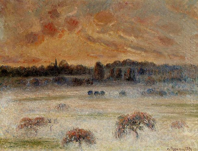 sunset with fog eragny 1891
