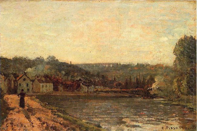 the banks of the seine at bougival 1871