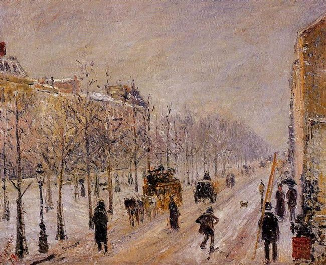 the boulevards under snow 1879