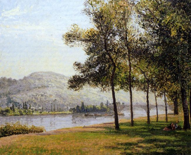 the cours la reine at rouen morning sunlight 1898