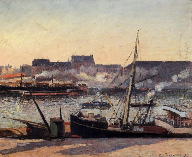the docks rouen afternoon 1898