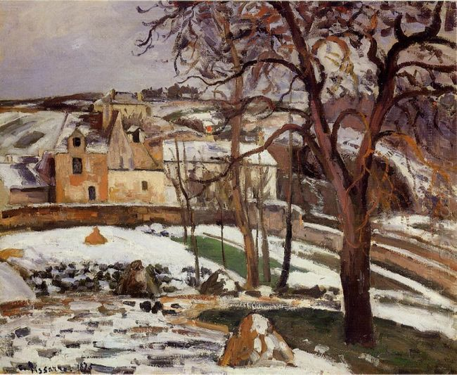 the effect of snow at l hermitage pontoise 1875