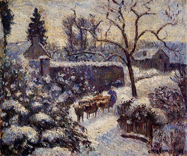 the effect of snow at montfoucault 1891
