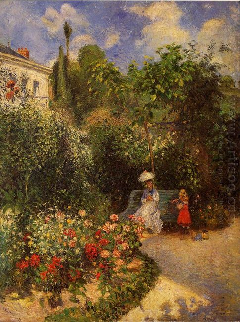 the garden at pontoise 1877