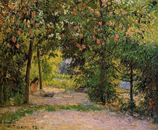 the garden in spring eragny 1894