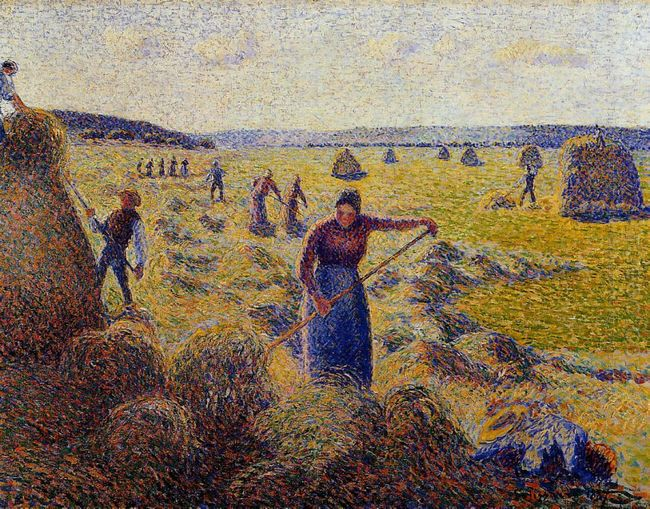 the harvest of hay in eragny 1887