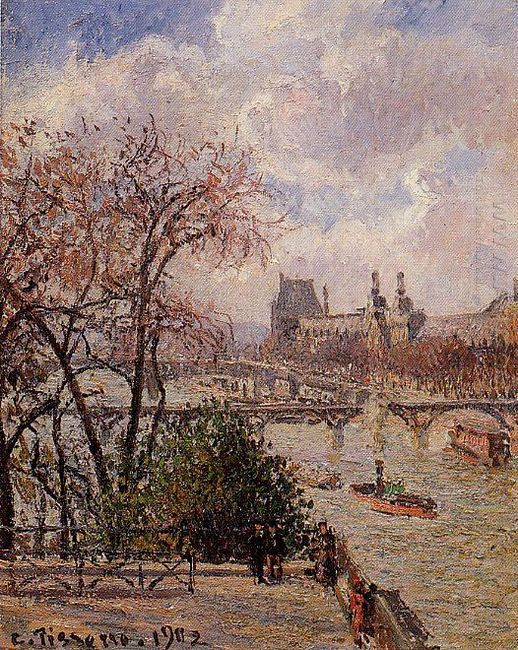 the louvre gray weather afternoon 1902