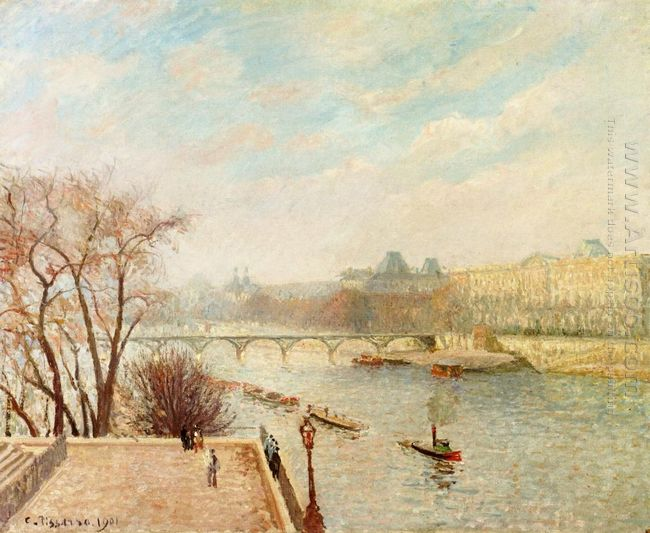 the louvre winter sunlight morning 2nd version 1901