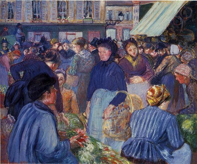 the market at gisors 1899