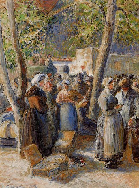 the market in gisors 1887