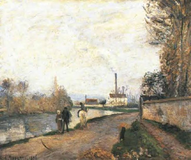 the oise at pontoise in bad weather 1876